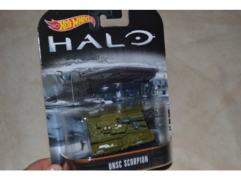 UNSC Scorpion HALO ca 1:64 Hot Wheels Presentbox Hög Kvalitet Ny