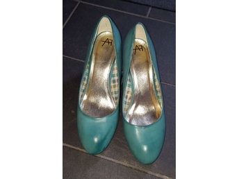 Anna Field Klassiska Pumps, Turkos, stl 40