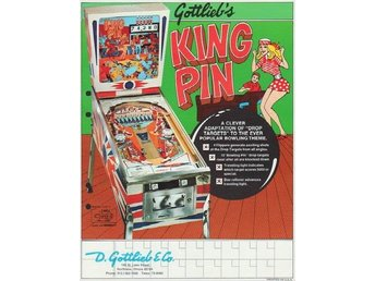 Original flyer Gottlieb KING PIN