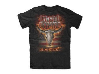 Lynyrd Skynyrd - Flaming Skull T-Shirt Large