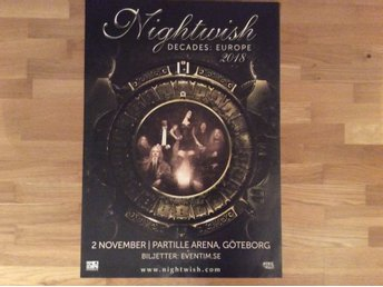 Nightwish turneaffisch 2018
