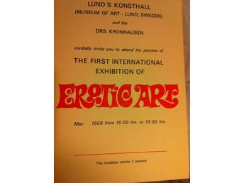 The First International Exhibition of EROTIC ART 1968