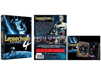 Leprechaun 4: In Space (Lmtd MEDIABOOK DVD BLURAY) 1996 - Warwick Davis - Uncut