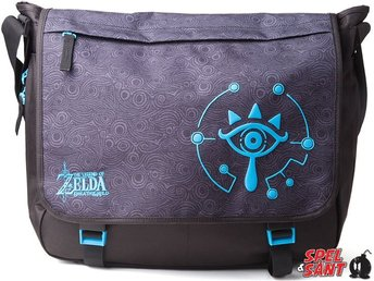 Nintendo Zelda Sheikah Eye Messenger Bag Medium Svart