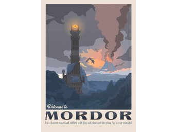 Pergament - Lord of the rings - Welcome to Mordor