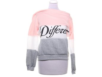 Different, Sweatshirt, Strl: XXL, Grå/Vit/Rosa