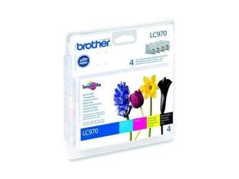 FP Brother LC970 Value Pack, Black, Cyan, Magenta, Yellow (350 sid.)