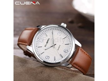 Klocka Herr New CUENA Fashion Men Casual Brown