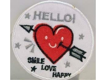 Tygmärken - Smile Love Happy # modell 2786