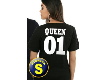 Queen t-shirt 01 Svart : Storlek SMALL