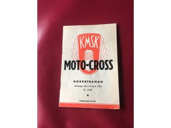 Program Motocross Norrbybanan Kumla 1955