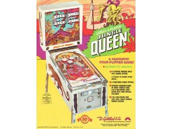 Original flyer Gottlieb JUNGLE QUEEN