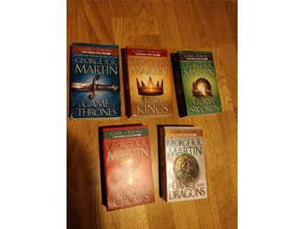 George RR Martin A song of ice and fire Game of thrones 5 böcker box engelska