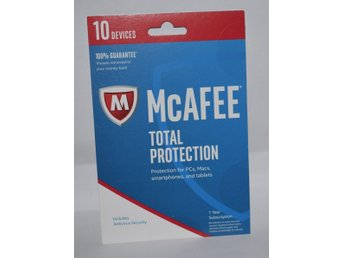 McAfee Total Protection 2019- 10 Enheter, 1 Års Licens- PC / Mac / ANDROID / iOS
