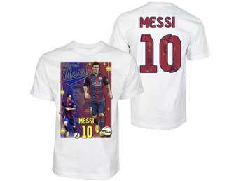 T-shirt - Messi 10 - Barcelona - Tryck fram & bak : LARGE