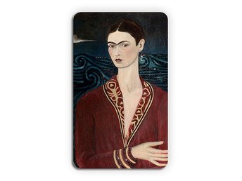 Frida Kahlo Self Portrait Wearing A Velvet Dress Kylskåpsmagnet