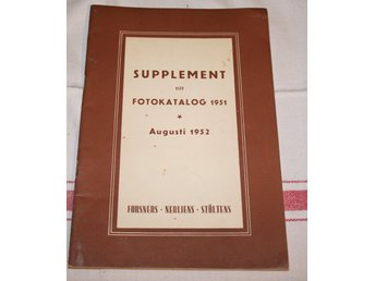 FORSNERS. SUPPLEMENT TILL FOTOKATALOG 1951.