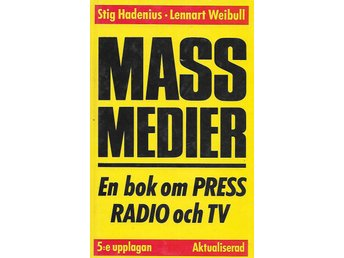 massmedier en bok om press radio och tv