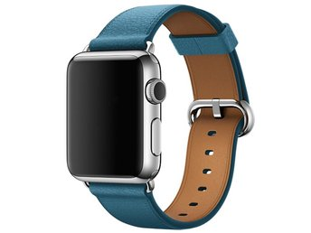 Classic Buckle 42/44mm Apple Watch Armband - (BLUE)