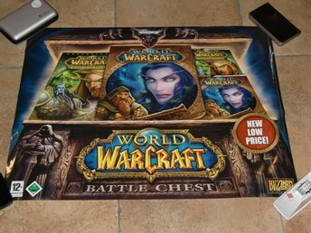 Gammal retro Poster WOW Battle chest