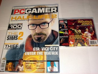 PC GAMER  Nr78 HELT NY m CD  JUNI 2003  HALF-LIFE 2   mm.