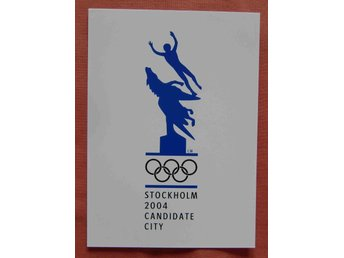 Olympiad OS Stockholm 2004 Candidate City reklamvykort