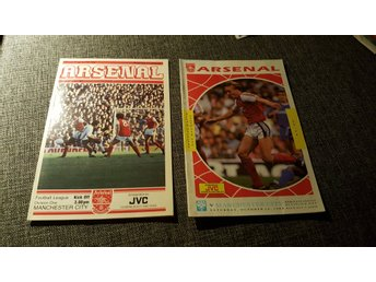 Program Arsenal v Manchester City 81 & 89