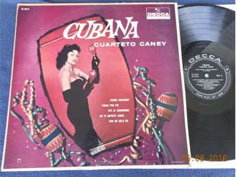 QUARTETO CANEY - Cubano, US Orig Decca LP 50-tal