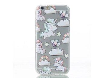 iPhone 5/5s/SE - Enhörning Regnbåge rosa moln - Mjölby - iPhone 5/5s/SE - Enhörning Regnbåge rosa moln - Mjölby