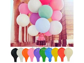 Jätteballong 90cm Lila Latex Large Balloon