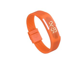 LED-klocka - Sportigt Armbandsur - Orange