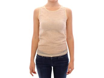 Dolce & Gabbana - Beige Sleeveless Cotton Top Tank Blouse