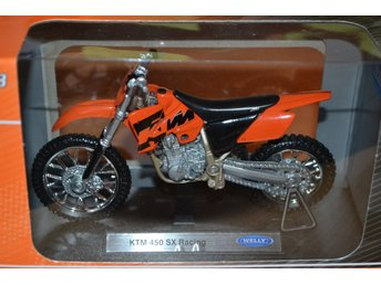 KTM 450 SX Racing Orange/Svart 1:18 Welly (Cross) Ny