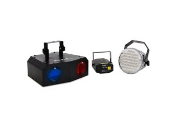 Ibiza Night 'n Light set LED-Moonflower LED-strobo laser
