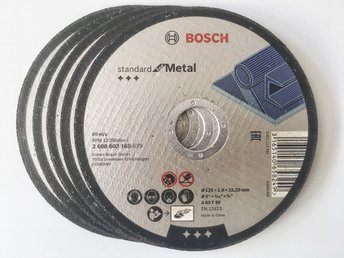 Bosch Kapskiva för metall 125x1,6 mm. , 5-pack