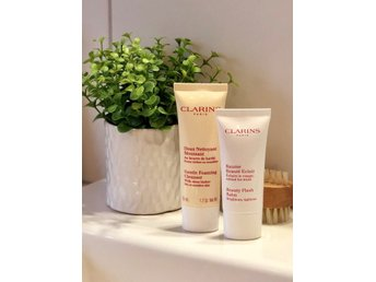 Clarins Set - Cleanser & Beauty Flash Balm OBRUTEN FÖRPACKNING