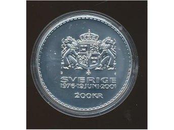 2001 M 200 kronor Stämpelglans Kungen - Västra Frölunda - 2001 M 200 kronor Stämpelglans Kungen - Västra Frölunda