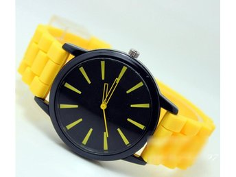 Gul Silikon Sommar Klocka  Yellow Silicon Summer Wrist Watch