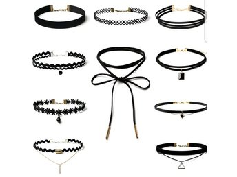 10 pack chokers svarta