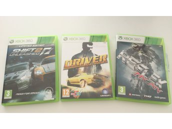 - Racing 3-Pack (Shift 2 Unleashed, Driver, MX Vs ATV Reflex) Bilspel XBOX360 -