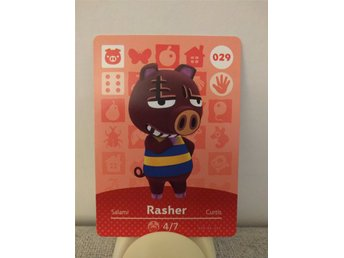 Animal Crossing Amiibo Welcome Amiibo card nr 029 Rasher