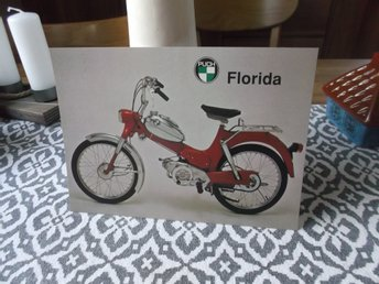 kort Moped Puch Florida . 21 x 15 cm