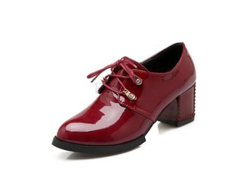 Damsko Pumps QUTAA White Ladies Autumn Burgundy Size 37.5