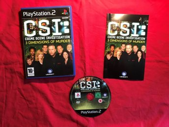 CSI CRIME SCENE INVETSTIGATION 3 DIMENSIONS OF MURDER PLAYSTATION 2 BRA SKICK