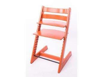 STOKKE TRIPP TRAPP barnstol orange nya modell 2007