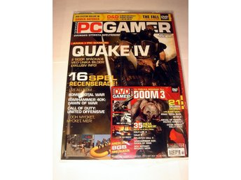 PC GAMER 94 NY m DVD  OKT 2004  QUAKE 4  mm. I ORIGINALPLAST