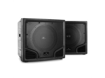 Malone PW-24115-SB passiv PA-subwoofer 1200W högtalare ABS