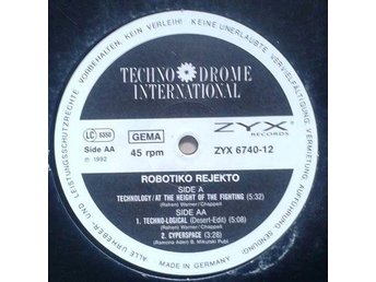 "Robotiko Rejekto title* Technology* EBM 12"" Germany"