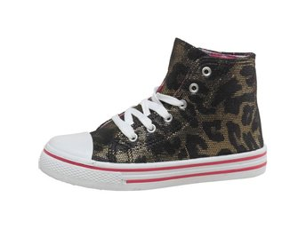 BOARD ANGELS Hi Top Barn Skor Animal Print BLACK Svart Stl 29 Sneakers