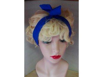 Hårband enfärgat kungsblått Rockabilly Pinup Dita - Alingsås - Hårband enfärgat kungsblått Rockabilly Pinup Dita - Alingsås